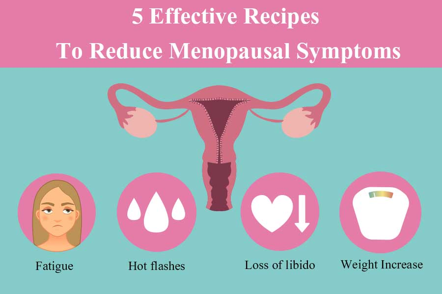 Learn 5 Effective Recipes To Reduce Menopausal Symptoms