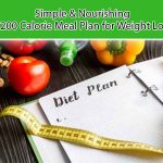 simple & nourishing 1200 calorie meal plan for weight loss singapore
